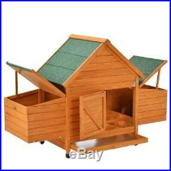 Pet Cages 60in Wooden Rabbit Hutch Chicken Coop Hen House Play Sleep Large X XL