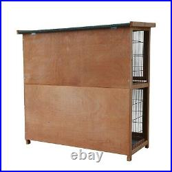 Pet Rabbit Hutch Animal Cage Wooden Outdoor with Run Chicken Hen House Backyard