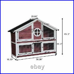 Pet Rabbit Hutch Wooden House Chicken Coop for Small Animals wooden house-purple