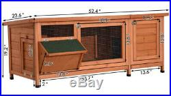 Rabbit Hutch Large Wooden Guinea Pig Cage Bunny Pen Pet House Small Animal