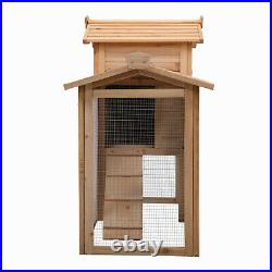 Rabbit Hutch, Outdoor Wooden Pet Bunny House Wooden Cage with Ventilation Griddi
