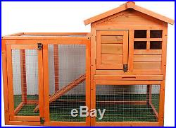 Rabbit Hutch Wood House Pet Cage for Small Animals Chicken Coop Wooden Bunny