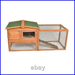 Rabbit Hutch Wooden Bunny Cage Pet House Outdoor Indoor Coop Small Animals Cage