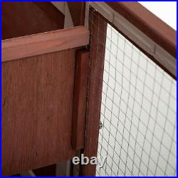 Red 36 Wooden Chicken Coop Hen House Rabbit Wood Hutch Poultry Cage Waterproof