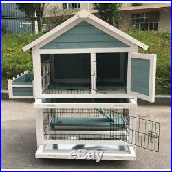 Seny Garden Window Wooden Rabbit Hutch Bunny Cage Guinea Pig House