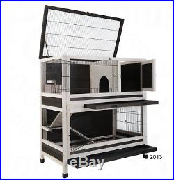 Small Pet Lounge Rabbit Ferret Rat 2 Story Large Wooden Animal Mouse House New