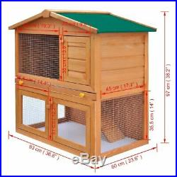 Spacious Wooden Rabbit Cage Suitable for Keeping Rabbits and Other Small Animals