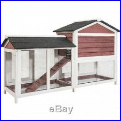 TOPMAX Pet Rabbit Hutch Wooden House Chicken Cage for Small Animals USA Stock