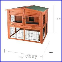 TRIXIE Extra Large Wooden Rabbit Hutch Chicken Coop Hen House Cage with Attic