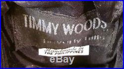 Timmy Woods of Beverly Hills Sitting Rabbit Wooden Evening Bag