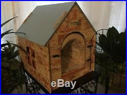 TravenPal Pet House Indoor Wooden Kennel Condo for Small Dogs Cats Rabbits Pet