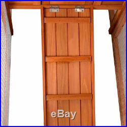 Two Story Pet Wooden House Rabbit Hutch Bunny Chicken Coop with Tray Run Outdoor