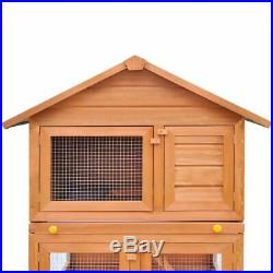 VidaXL Wooden Outdoor Rabbit Hutch Small Animal House Chicken Poultry Cage