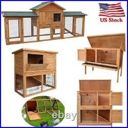 Waterproof Wooden Chicken Coop Hen House Pet Animal Poultry Cage Rabbit Hutch PN