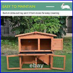 Wooden Bunny Rabbit Hutch Chicken Coop Shelter Guinea Pig Small Animal House