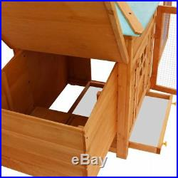 Wooden Chicken Coop Deluxe Hen Small Animal Cage Backyard Rabbit Hutch House