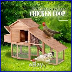 Wooden Chicken Coop Hen House Rabbit Hutch Pet House Cage with Run