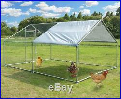Wooden Chicken Coop Large Poultry Enclosure Hutch Walk-in Metal Cage Heavy Duty
