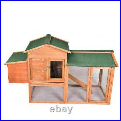 Wooden Chicken Coop Nest Box Hen House Wood Poultry Hutch Nesting Backyard 67'