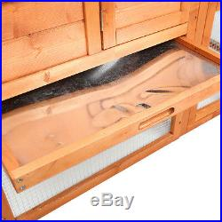 Wooden Chicken Coop Rabbit Hutch Pet Cage Wood Small Animal House 51x44.5x26