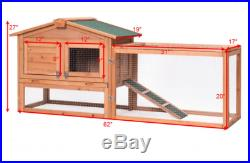 Wooden Chicken Coop Rabbit Hutch Poultry Cage Hen House Nest Backyard FREE SHIP
