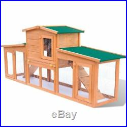 Wooden Chicken Coop Rabbit Pet Hutch Poultry Enclosure Rectangle Run Cage 13size