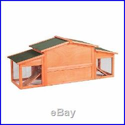 Wooden Coop Chicken-Rabbit Cage Pet Hutch House Poultry Enclosure Nest Box Run