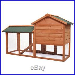Wooden Large 58 Rabbit Hutch Chicken Coop Bunny Hen Animal Cage House withRun