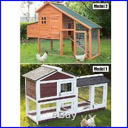 Wooden Pet cage Hen Chicken Coop Rabbit Bunny Hutch Bacyard Small Animal House
