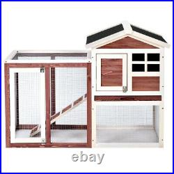 Wooden Rabbit Bunny Wood Hutch Dog Pet House Chicken Coops Cages Farm Auburn