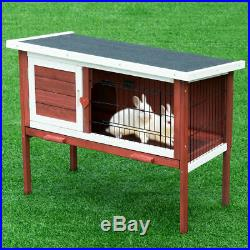 Wooden Rabbit Chicken Small Animal Cage House with Tray