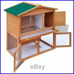 Wooden Rabbit Huntch Bunny Pet Cage Small Animal House Hen Chicken Coop 9 Szies