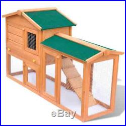 Wooden Rabbit Huntch Bunny Pet Cage Small Animal House Hen Chicken Coop Wood New