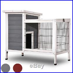Wooden Rabbit Hutch Bunny Cage Hen House for Indoor Outdoor with Yard 1510