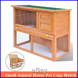 Wooden Rabbit Hutch Bunny Pet Cage Small Animal House Hen Chicken Coop Outdoor