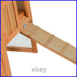 Wooden Rabbit Hutch Chicken Coop Bunny Cage Backyard Hen House Poultry Pet Cage