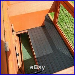 Wooden Rabbit Hutch Outside Run Weather-proof Lockable 2 Level Easy Assemble
