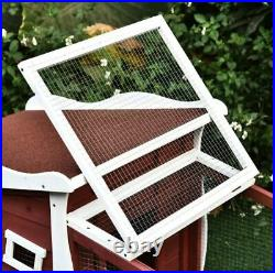 Wooden Rabbit Hutch with Run Weatherproof Bunny House Enclosure Cage Guinea Pig