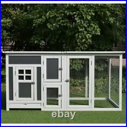 XL Chicken Coop Small Animal Cage Rabbit Hutch Outdoor Wooden House Pig Runner